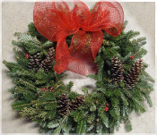 Fraser Fir Holiday Wreath